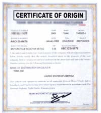 Certificate of origin form a europe fulfillment for Certificate of origin for a vehicle template